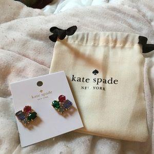 Kate Spade Gem Color Post Earrings NWT MSPR $68